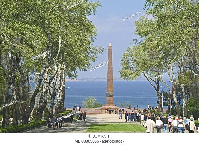 Ukraine, Odessa, Schewtschenko-Park,  Monument of the unknown sailor  Europe, Eastern Europe, black sea coast, city, destination, sight, culture, memorial