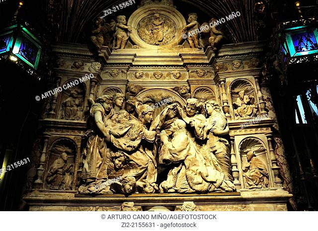The Primate Cathedral of Saint Mary, Gothic, XIII-XV centuries, sculptural group, Toledo, Spain