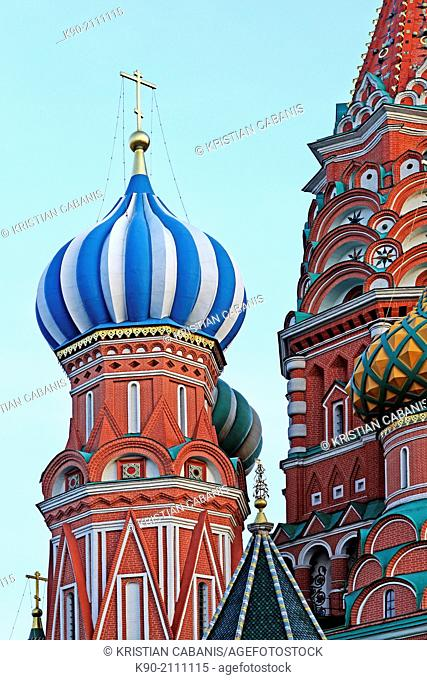 Small tower of the St. Basils cathedral, Red Square, Moscow, Russia, Europe