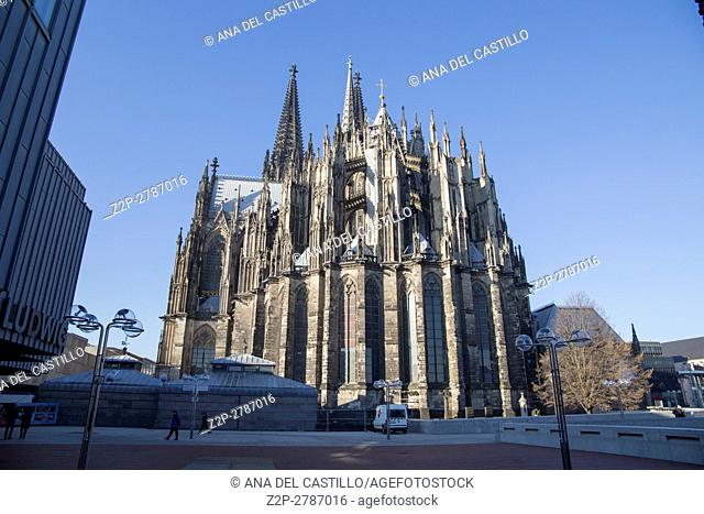 Cologne cathedral UNESCO declared Cologne Dom a world heritage site in 1996, on Dec 2016 in Germany