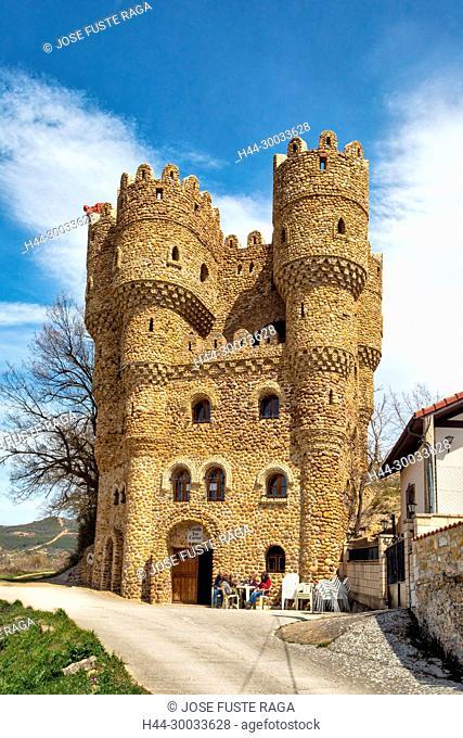 Spain, Burgos Province, Cebolleros City, Las Cuevas Castle