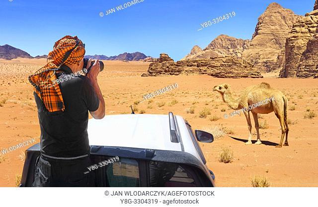 Jeep safari tour, Wadi Rum Desert, Jordan