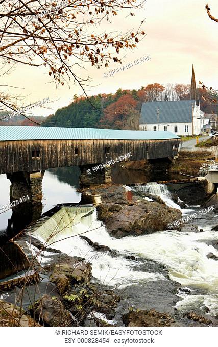 Bath Bridge 1832, New Hampshire, USA