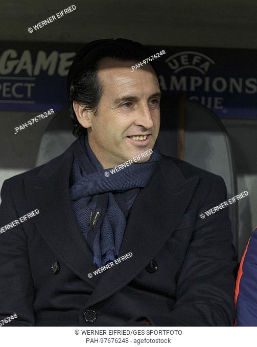Trainer Unai Emery (Paris Saint-Germain), Portrait/Portraet/Portrat/Kopf Fussball UEFA Championsleague Gruppenphase : FC Bayern Munich - Paris St