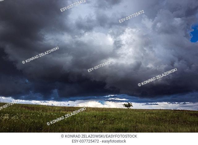 Landscape of Warmian-Masurian Voivodeship of Poland