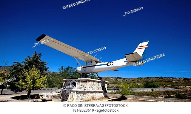 Fire plane monument, Alcublas, Valencian Community, Spain