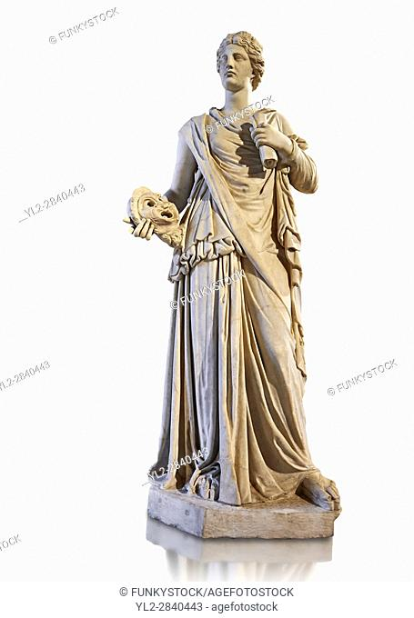 Female statue known as the Muse de Louveciennes, a Roman statue of the 3rd century AD from Rome. The Royal Collection Inv No