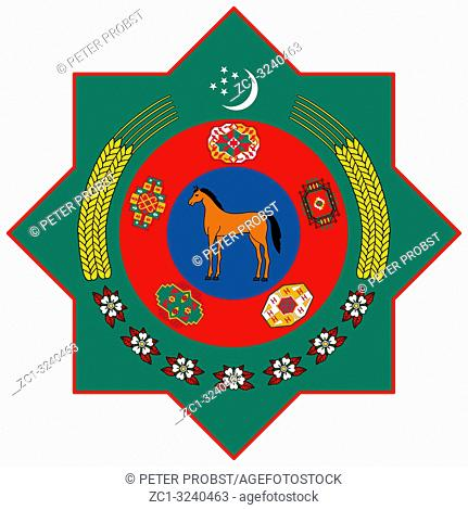 National coat of arms of the Republic of Turkmenistan