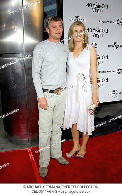 Rick Schroder, Andrea Bernard at arrivals for THE 40 YEAR-OLD VIRGIN Premiere, The Arclight Cinema, Los Angeles, CA, August 11, 2005