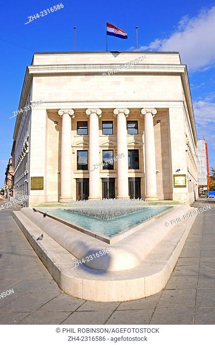 Zagreb, Croatia. Croatian National Bank (Hrvatska Narodna Banka)
