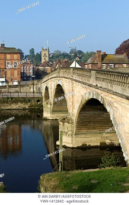 The bridge leading into the riverside market town of Bewdley in Worcestershire