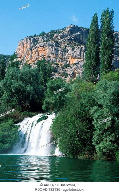 Roski waterfall, Krka waterfall, national park Krka, Dalmatia, Croatia, Roski slap