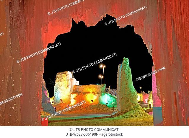 Night View, Chitose and Shacmizumi Coori festival, Chitose, Hokkaido, Japan