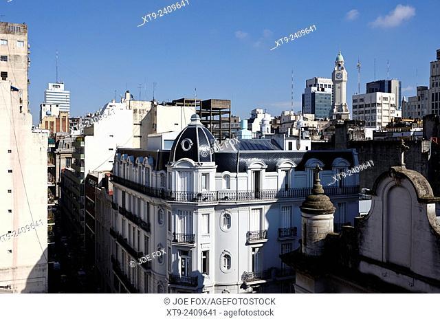 overlooking rooftops in monserrat Buenos Aires Argentina