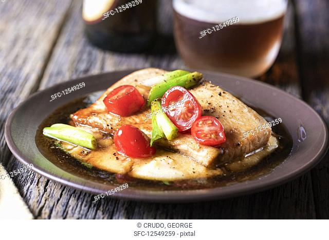 Tilapia with sweet and sour vegetable