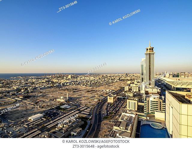 Elevated view towards Jumeirah, Dubai, United Arab Emirates