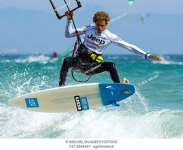 Kitesurfing world championship, Tarifa, Costa de la Luz, Cadiz, Andalusia, Spain