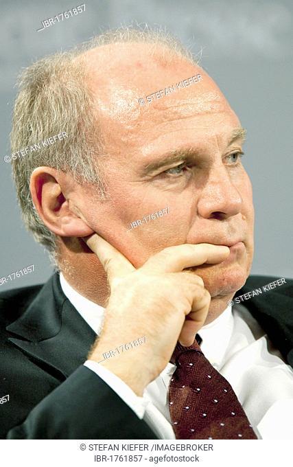 Uli Hoeness, Chairman of FC Bayern Muenchen AG in Passau, Bavaria, Germany, Europe