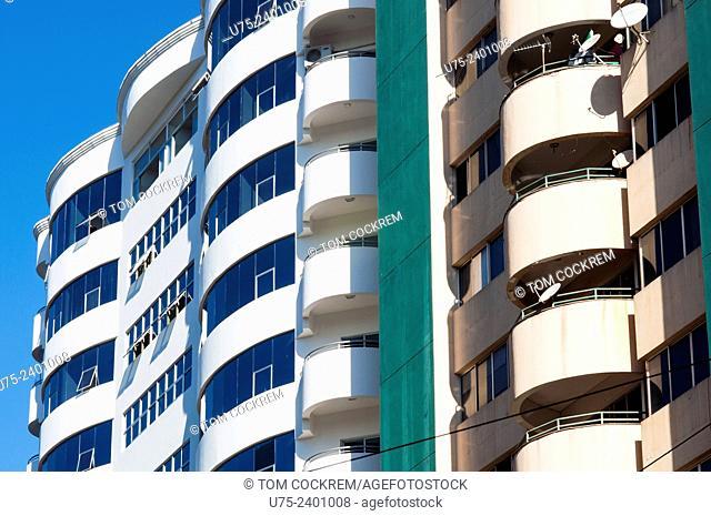 Apartment blocks, CBD, Ciudad del Este, Paraguay