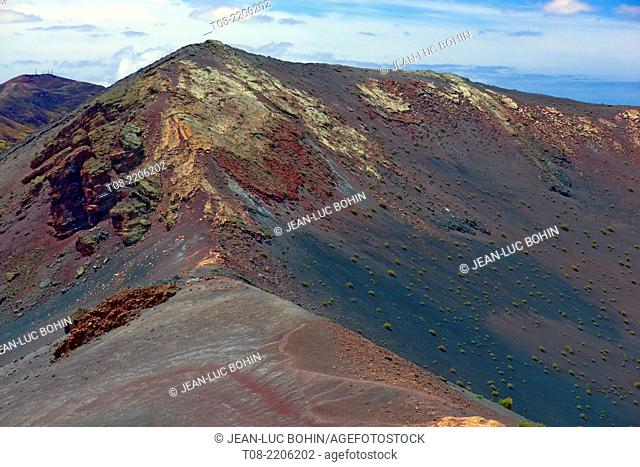 spain, canary islands, lanzarote : timanfaya national park