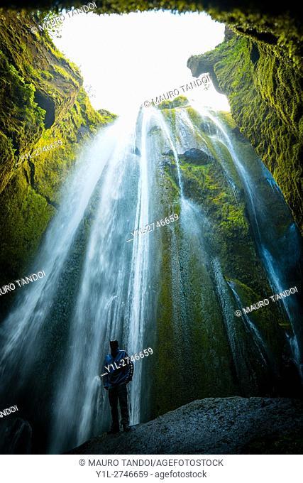 Gljúfrabúi, Iceland - Gljúfrabúi is a 40m waterfall right next to Seljalandsfoss (the waterfall you can walk behind) you just walk thru the camp site to the...