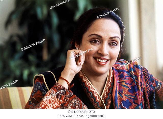 1997, Portrait of Indian film actress Hema Malini