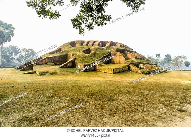 Bogra, Bangladesh - February 18, 2017: Mahasthangarh is one of the earliest urban archaeological site so far discovered in Bangladesh