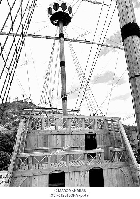 a symbolic discover boat at bahia