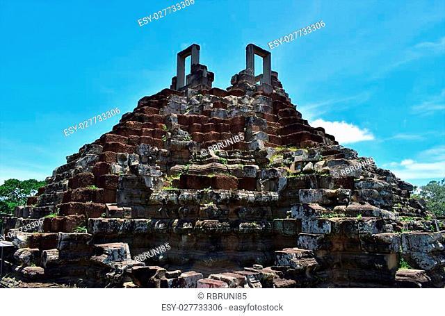 Temple grounds found while exploring through Cambodia
