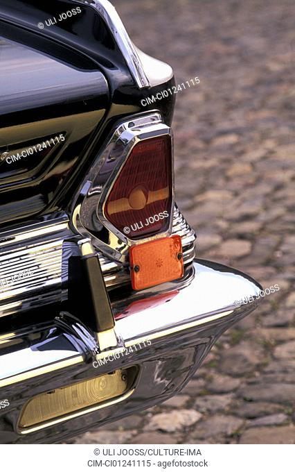 Car, Chrysler 300, vintage car, sedan, black, 1960s, sixties, model year 1964, detail, details, backlight, technics, technical, technically, accessory