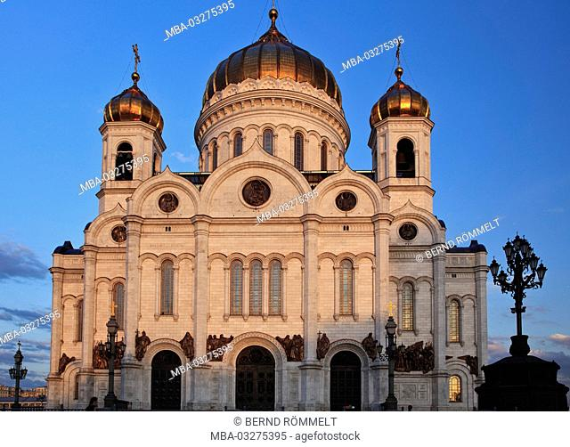 Europe, Russia, Moscow, cathedral of Christ the Saviour