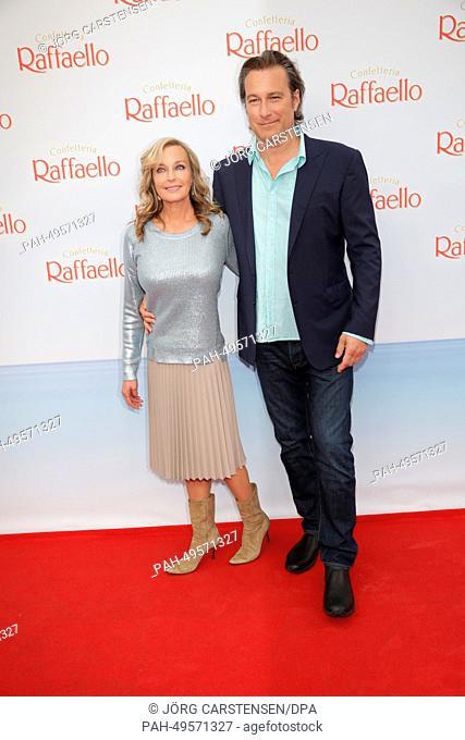 The US american actors Bo Derek and John Corbett attend the 'Raffaello Summer Day' in Berlin, Germany, 21 June 2014. Raffaello invites to celebrate the summer