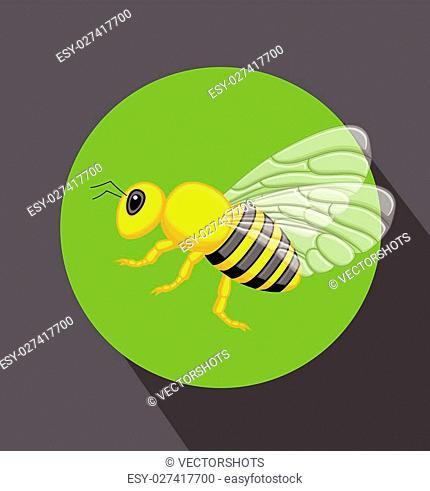 Cartoon Hornet Insect Vector