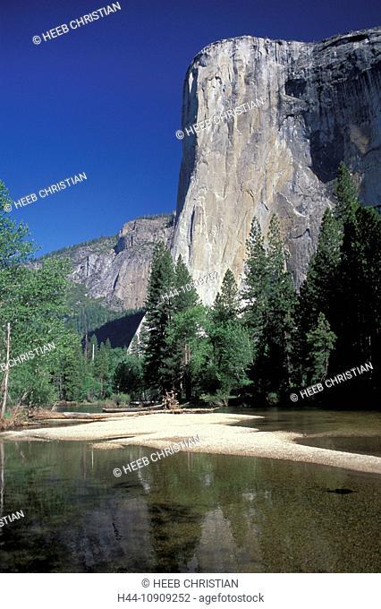 El Capitan, Merced River, Yosemite, N.P., California, USA, United States, America, reflection, river, Yosemite, National Park, Yosemite Valley, Sierra Nevada