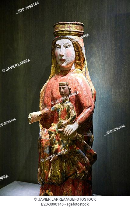 Virgen with Child,13th century, Diocesan Museum, Museo Diocesano, Jaca, Huesca province, Aragón, Spain, Europe