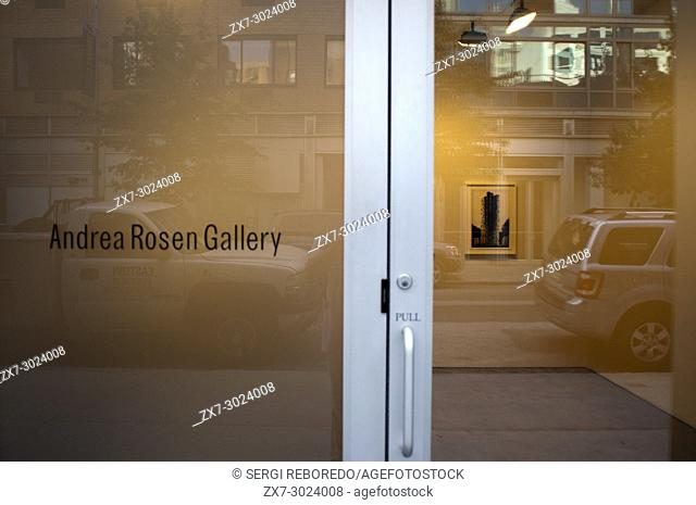 """""""""""""""""""""""Andrea Rosen Gallery"""""""" in the Chelsea Area, Manhattan. New York. USA. Twenty years ago, Chelsea was best known as a relatively quiet gay-friendly..."""