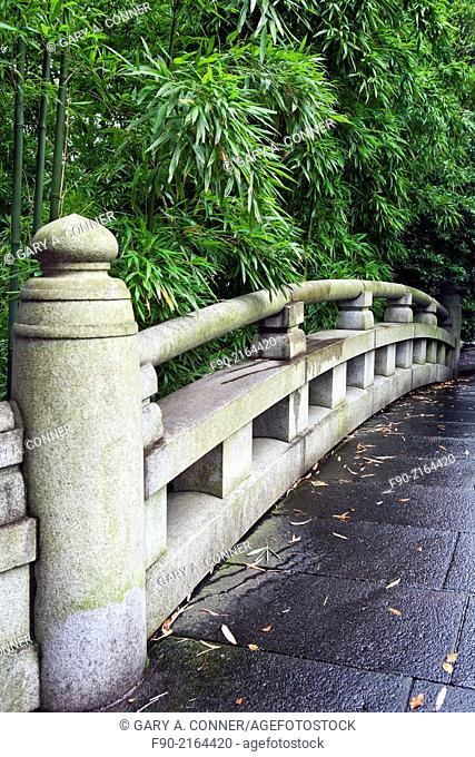 Bridge at Togo Shrine in Harajuku, Tokyo, Japan
