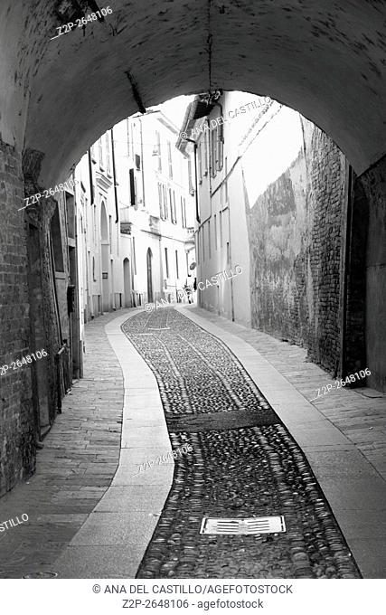 Pavia cityscape in Lombardy Italy