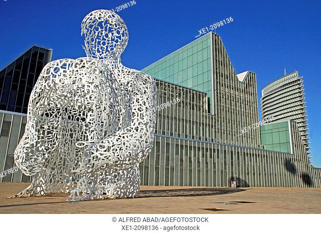 Sculpture 'Alma del Ebro' by Jaume Plensa, Congress Palace, Expo 2008 enclosure, Zaragoza, Spain
