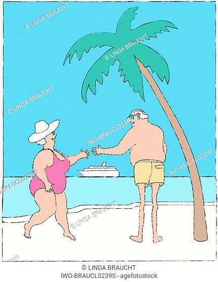 A Couple on an Island Vacation