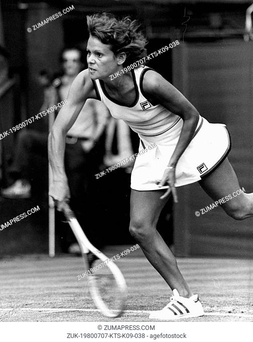 July 2, 1979 - London, England, U.K. - EVONNE GOOLAGONG CAWLEY Australia's top tennis star, becomes the first mother ever to win the Ladies Singles Final at...