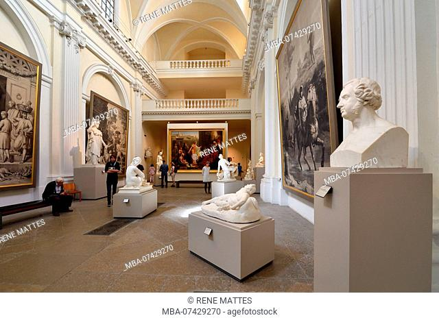 France, Rhone, Lyon, historical site listed as World Heritage by UNESCO, Palais Saint Pierre, Musee des Beaux Arts (Fine Art Museum)