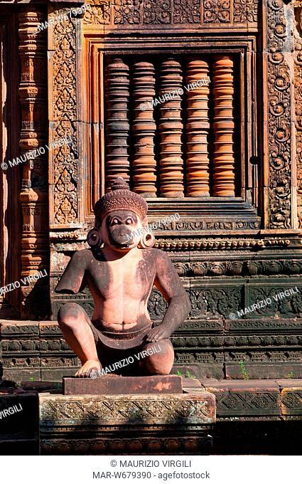 tempio banteay srei, angkor, cambogia
