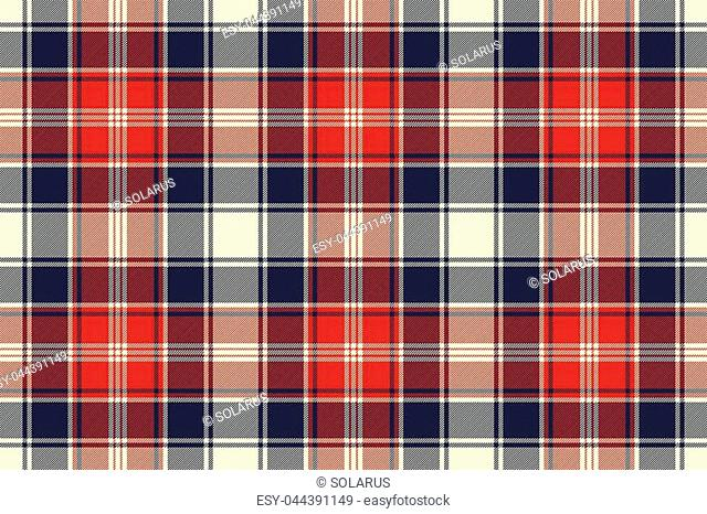 Check fabric texture diagonal lines seamless pattern. Vector illustration