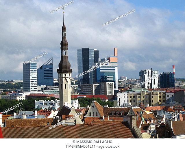 Estonia, Tallinn, old town and the new town