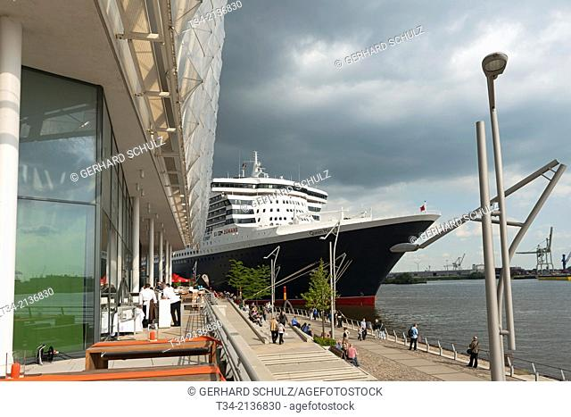 Queen Mary 2 at Hamburg Harbour, Germany