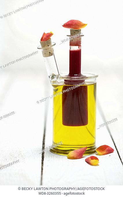 aceite de oliva con frutos rojos