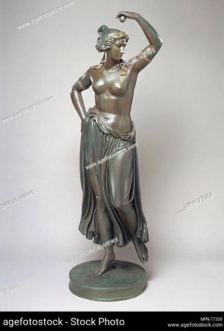 Dancing Girl. Artist: Ludwig Michael von Schwanthaler (1802-1848); Date: cast 1854; Culture: German, Munich; Medium: Bronze; Dimensions: Overall: 87 x 35 x 26...