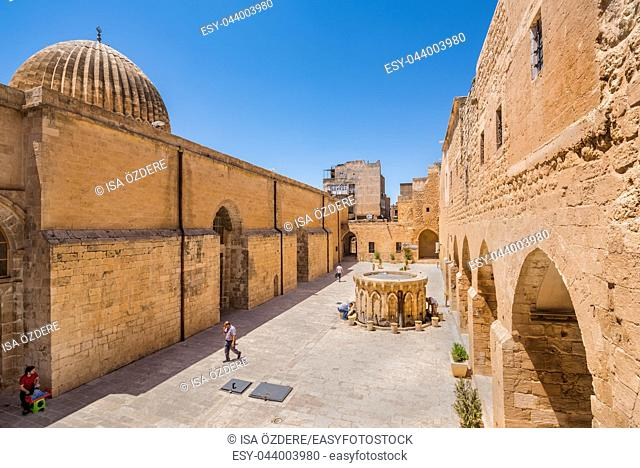 High resolution panoramic view of Ulu (Grand) Mosque,a popular landmark in Mardin,Turkey. 17 June 2018