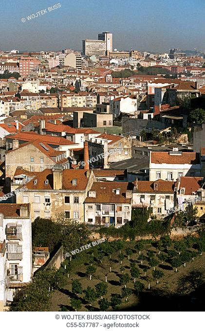 View from Castelo de São Jorge, Lisbon, Portugal